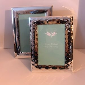 Set Of Two Silver Plated Picture Frames